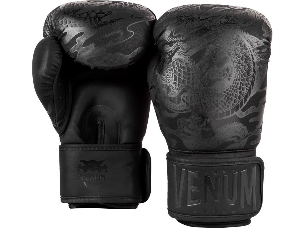 Boxing Gloves Venum Dragon's Flight - Black/Black