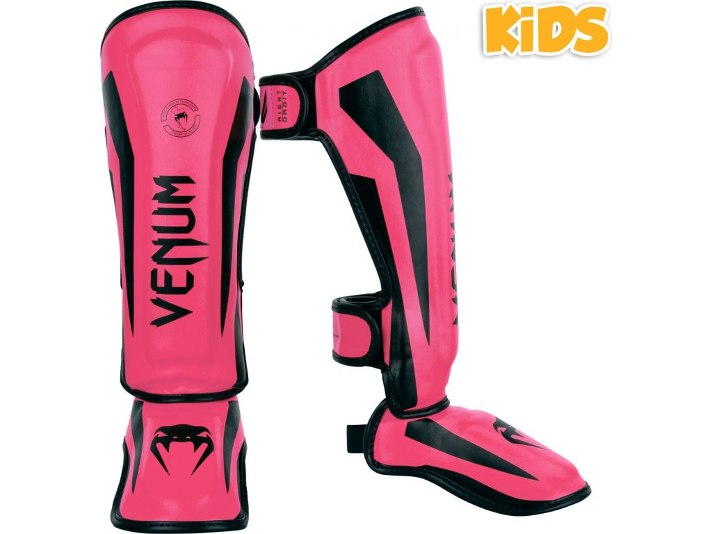 KIDS Shin Guards Venum Elite - Neo Pink