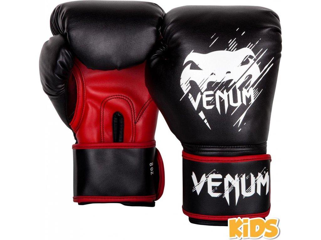 KIDS Boxing Gloves Venum Contender - Black/Red