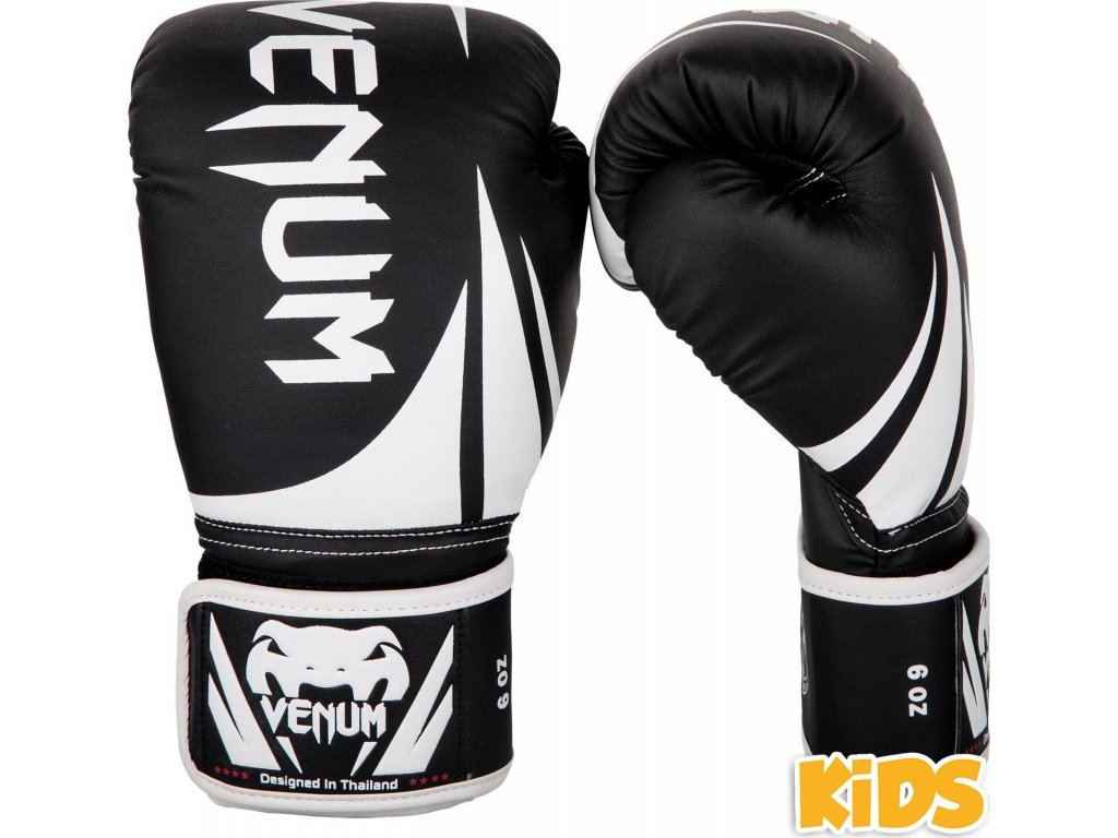 KIDS Boxing Gloves Venum Challenger 2.0 - Black/White