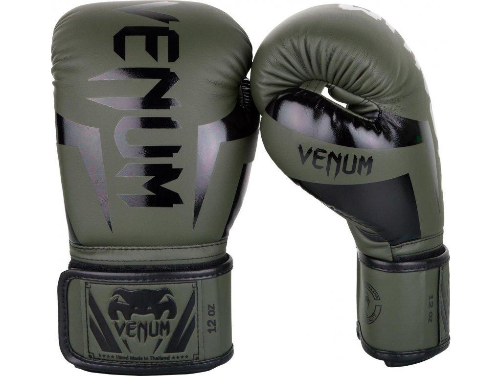 Boxing Gloves Venum Elite - Khaki/Black