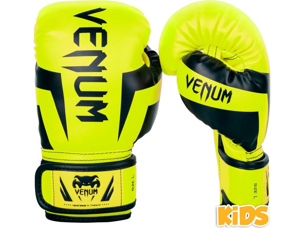 KIDS Boxing Gloves Venum Elite - Neo Yellow
