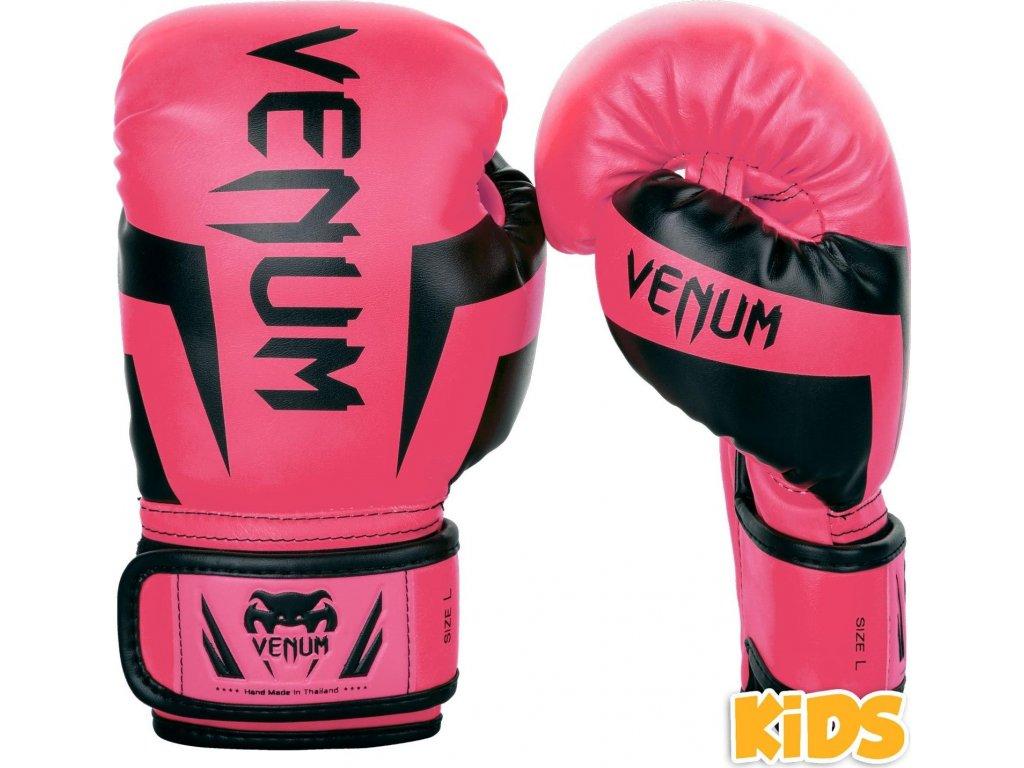 KIDS Boxing Gloves Venum Elite - Pink