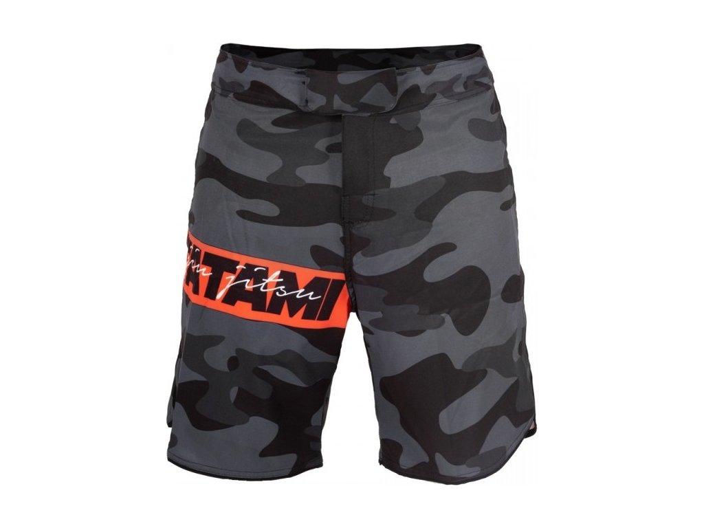 MMA no-gi Shorts Tatami Red Bar Camo