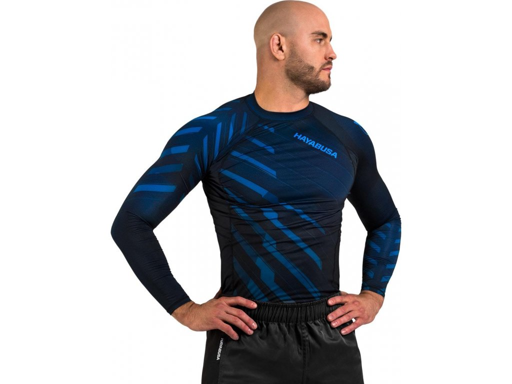 Rashguard Hayabusa Odor Resist - Blue - Long sleeves