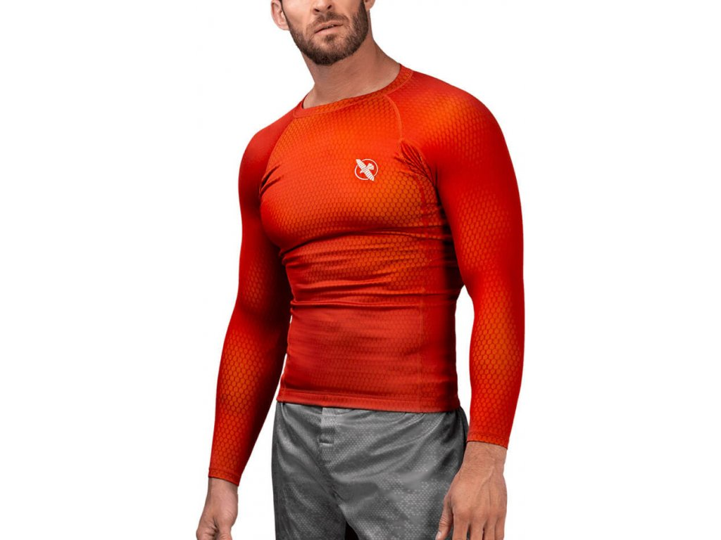 Rashguard Hayabusa Fusion - Red/Yellow - Long Sleeves