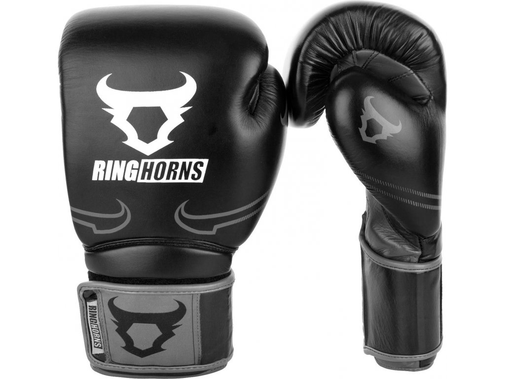 Boxing Gloves Ringhorns Destroyer - Leather - Black/Grey