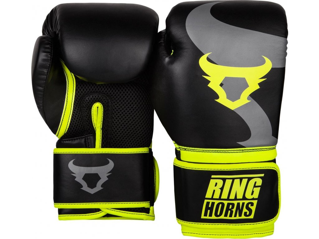 Boxing Gloves Ringhorns Charger - Black/Neo Yellow