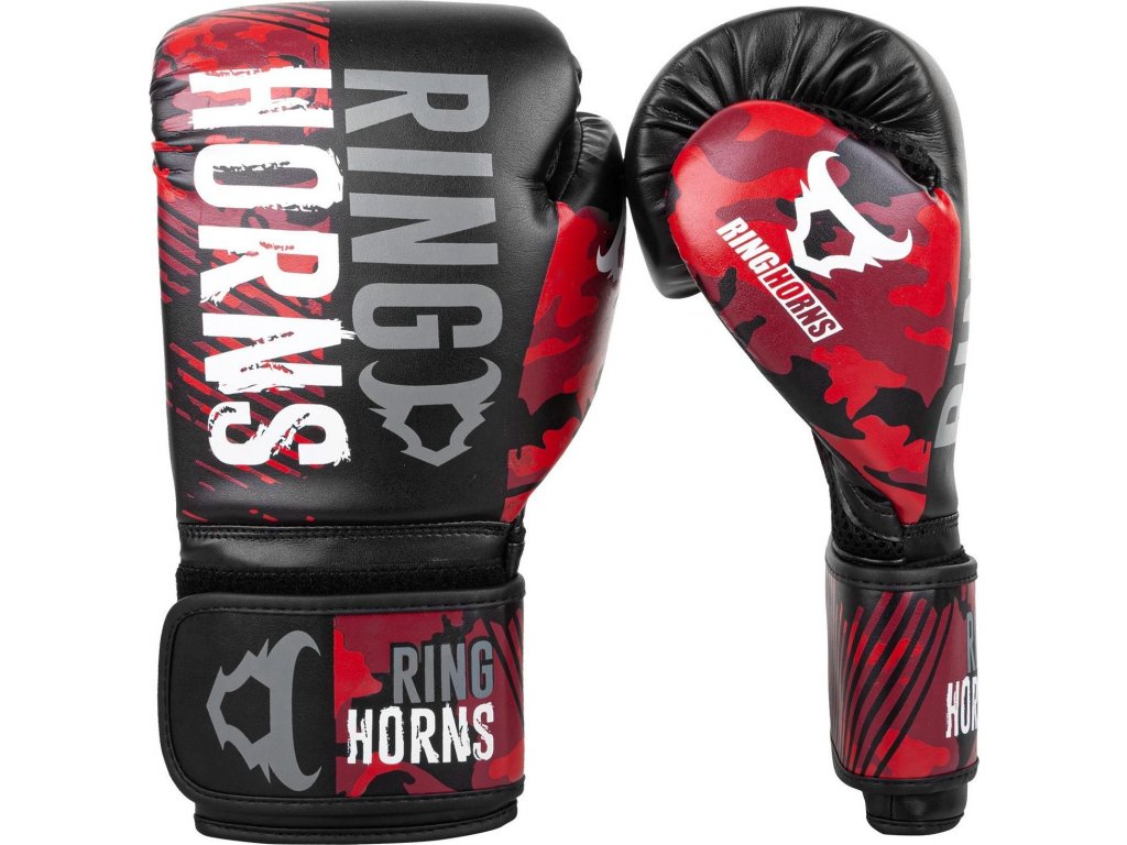 Boxing Gloves Ringhorns Charger - Camo Black/Red