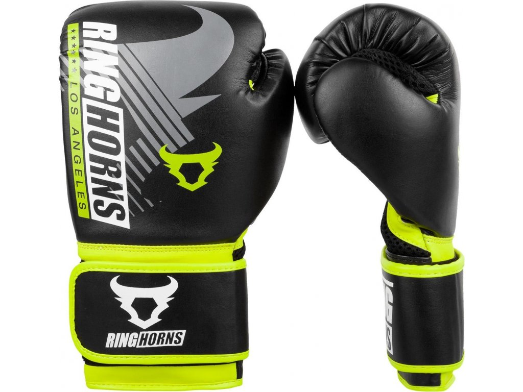 Boxing Gloves Ringhorns Charger MX - Black/Neo Yellow