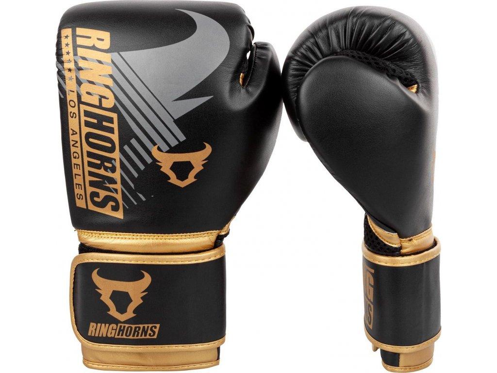 Boxing Gloves Ringhorns Charger MX - Black/Gold