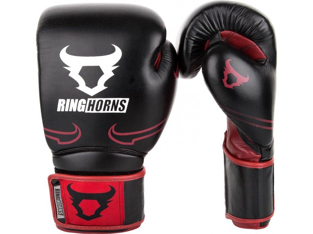 Boxing Gloves Ringhorns Destroyer - Leather - Black/Red