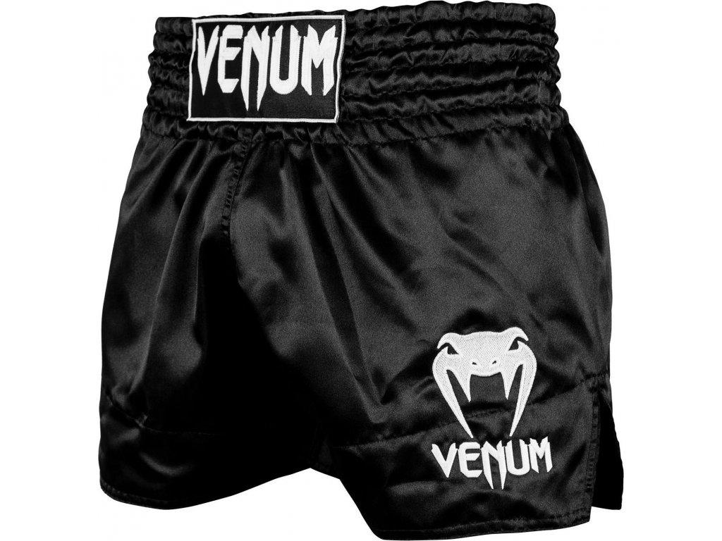 Muay Thai Shorts Venum Classic - Black/White
