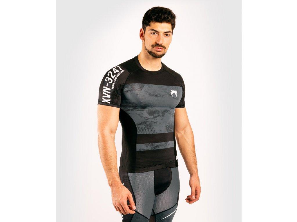 Rashguard Venum Sky247 - Short Sleeves - Black/Grey