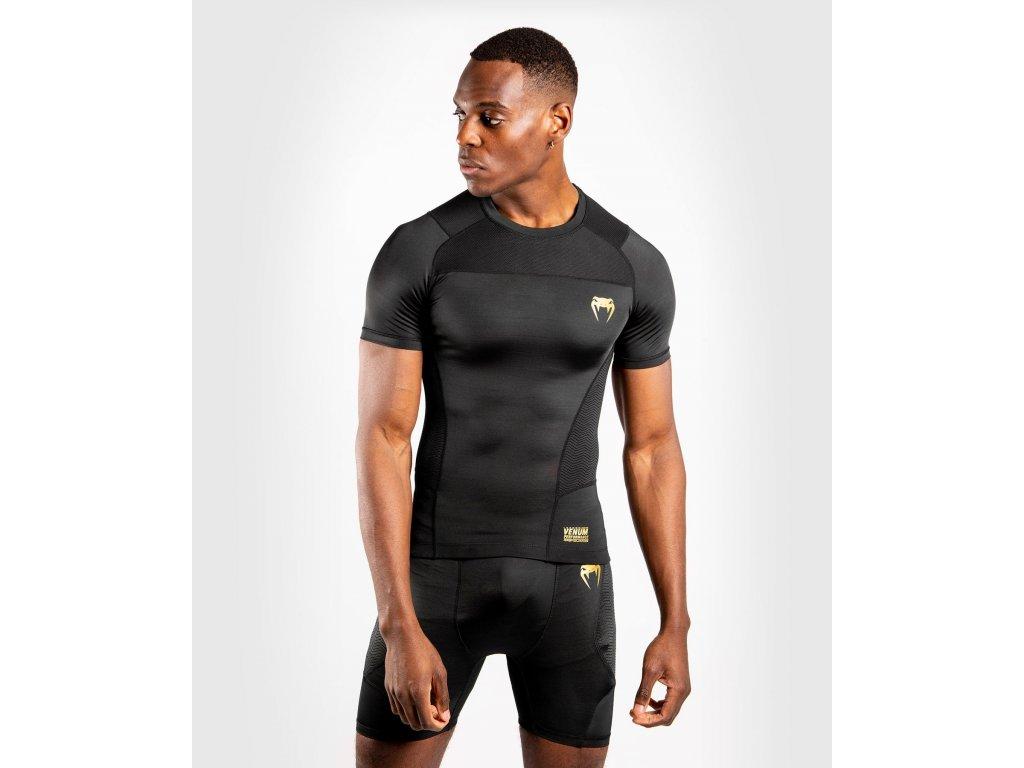 Rashguard Venum G-FIT - Short Sleeves - Black/Gold
