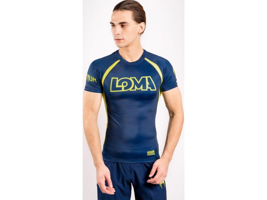 Rashguard Venum Loma Origins - Shorts Sleeves - Blue/Yellow