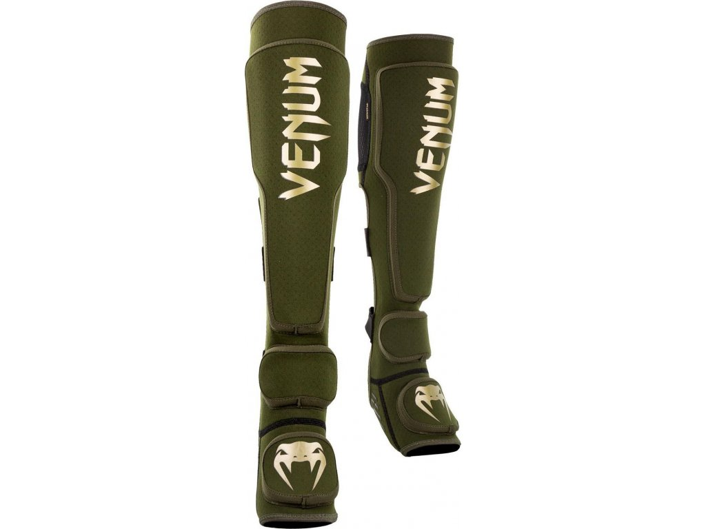 Shin Guards Venum Kontact EVO - Khaki/Gold