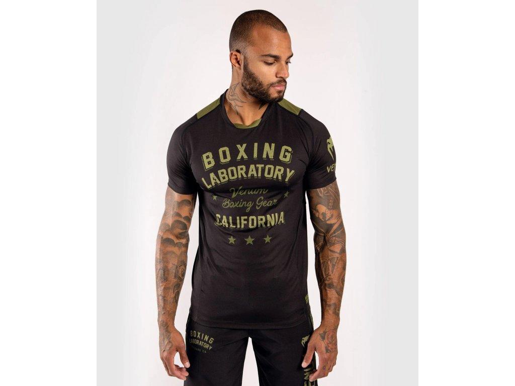 Men's T-shirt Venum Boxing Lab Dry Tech - Black/Green