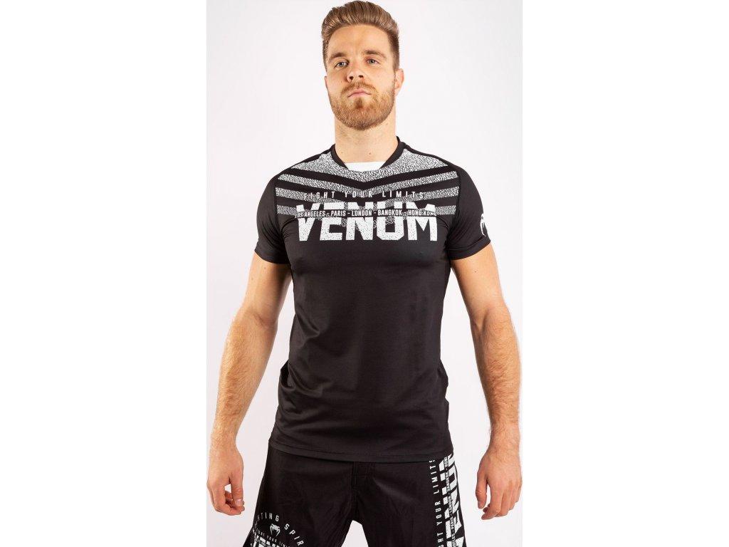 Men's T-shirt Venum Signature Dry Tech - Black/White