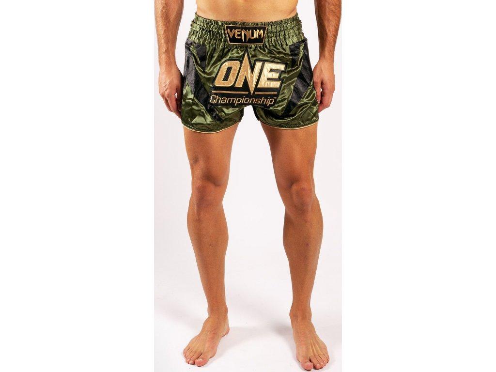 Muay Thai Shorts Venum X One FC - Khaki/Gold