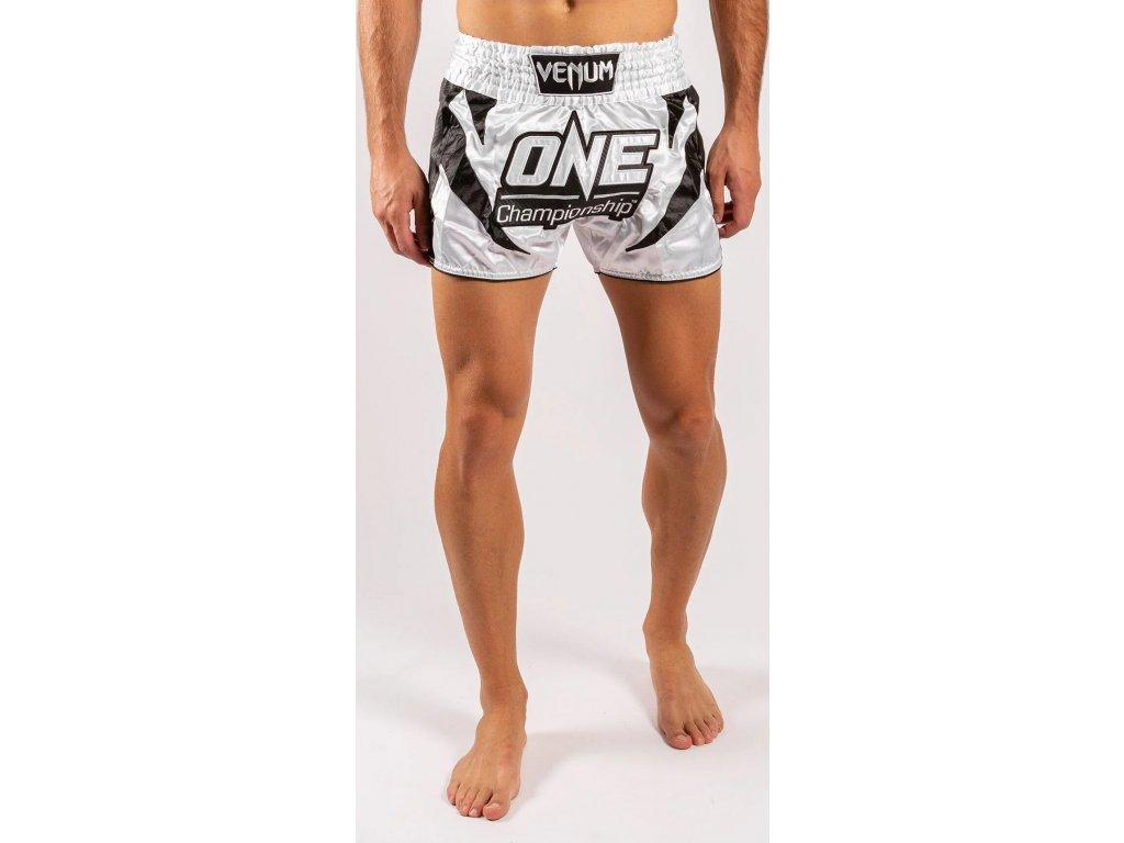 Muay Thai Shorts Venum X One FC - White/Black