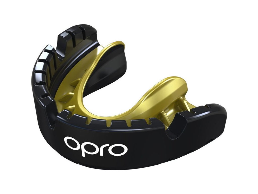 Mouthguard OPRO Gold for Braces - Black/Gold