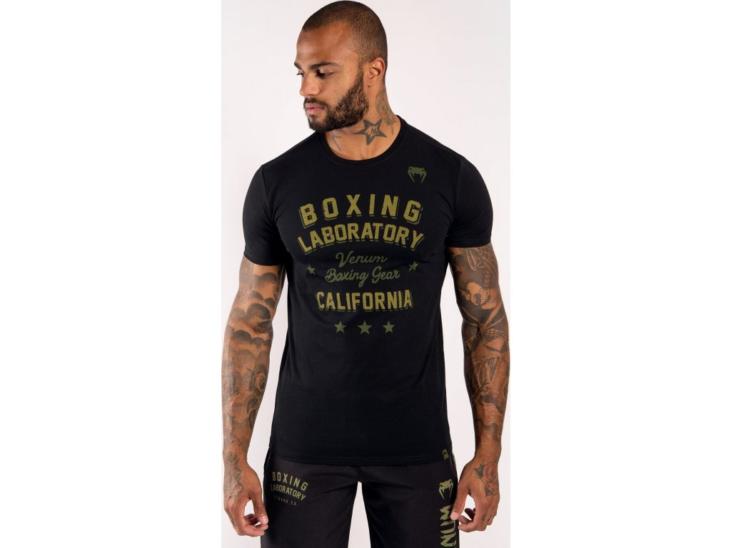 Men's T-shirt Venum Boxing Lab - Black/Green