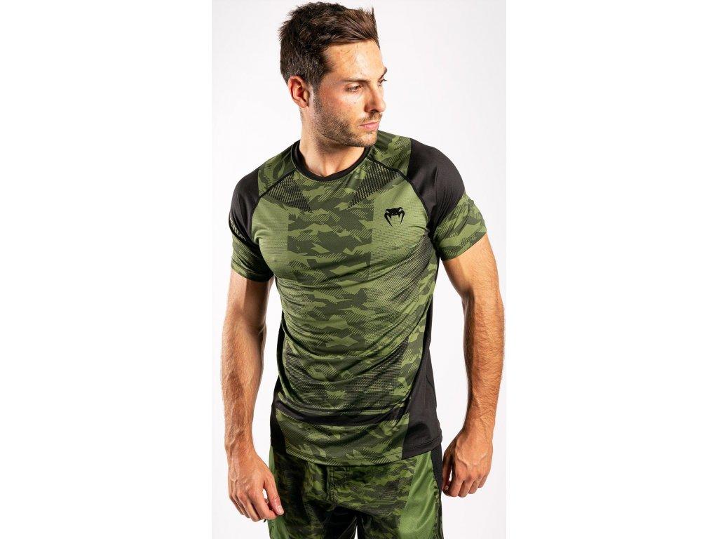 Men's T-shirt Venum Trooper Dry Tech - Forest Camo/Black