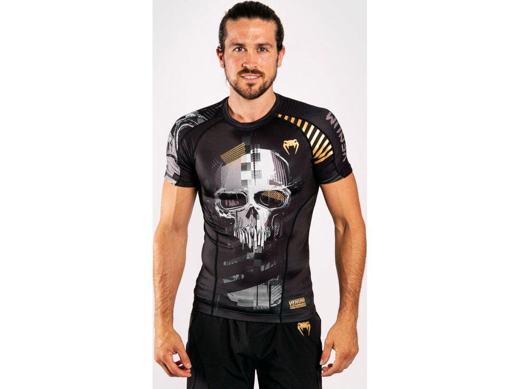 Rashguard Venum Skull - Short Sleeves - Black