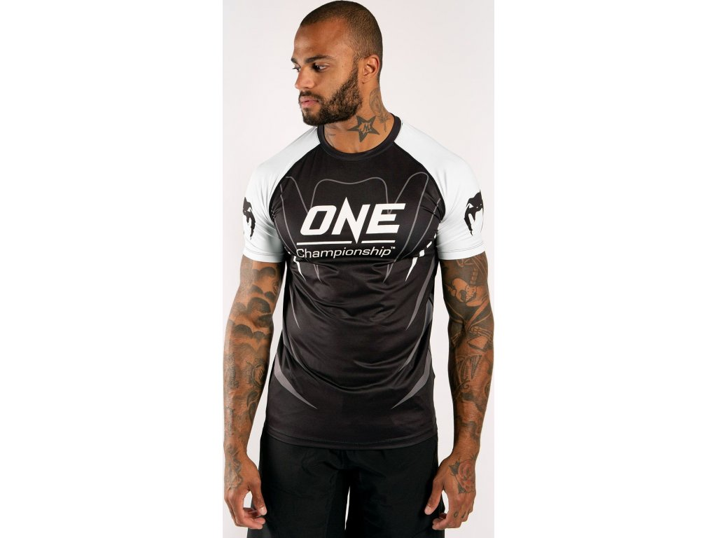 Men's T-shirt Venum X One FC Dry Tech - White/Black