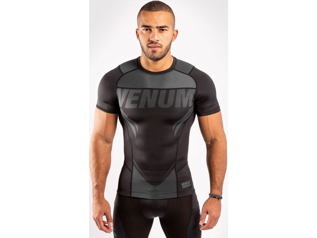 Rashguard Venum ONE FC Impact - Short Sleeves - Black/Black