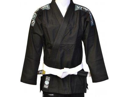 BJJ gi kimono Valor Bravura BLACK + white belt