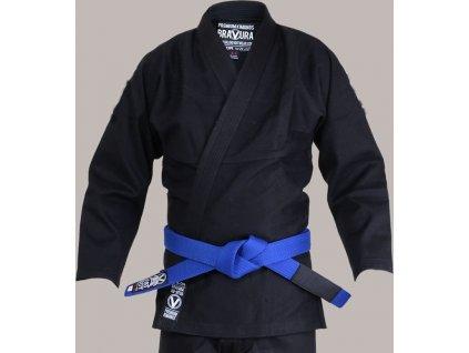 BJJ gi kimono Valor Bravura CLASSIC PLAIN BLACK + white belt