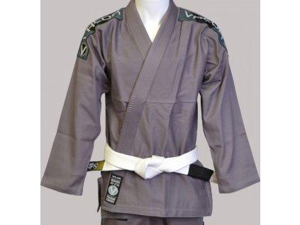BJJ gi kimono Valor Bravura GREY + white belt