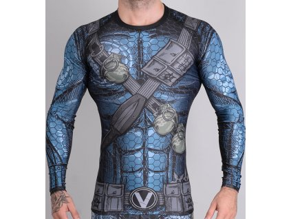 Rashguard Valor Assassin Blue