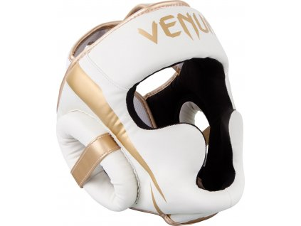 Box/MMA Headgear Venum Elite - White/Gold
