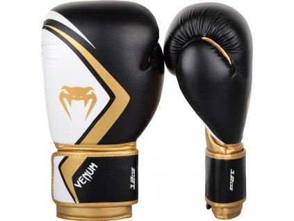 Boxing Gloves Venum Contender 2.0 Black/White/Gold