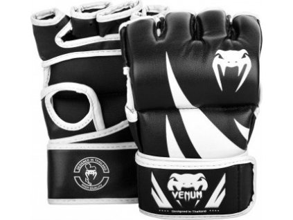 mma gloves challenger thumb black white 1500 01