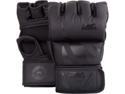 MMA Gloves Venum Challenger without thumb BLACK/BLACK