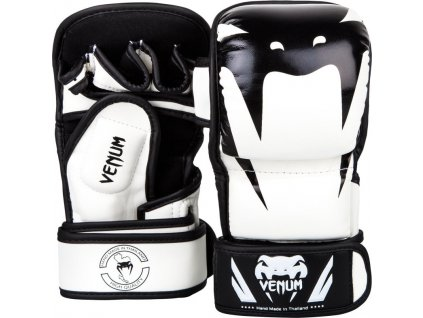 MMA Sparing Gloves Venum Impact  - WHITE/BLACK
