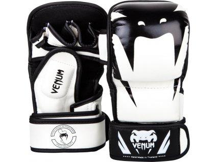 MMA Sparing Gloves Venum Impact  - WHITE/BLACK