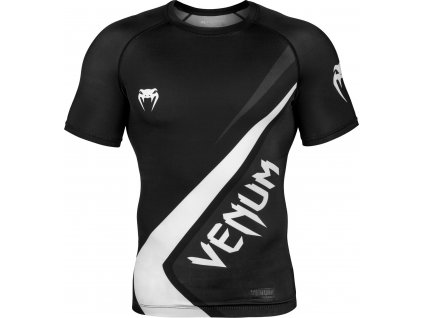 Rashguard Venum Contender 4.0 Short Sleeves - BLACK/GREY-WHITE