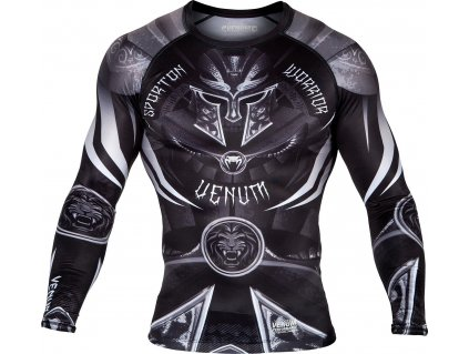 Rashguard Venum Gladiator 3.0 Long Sleeves BLACK/WHITE