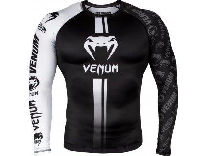 Rashguard Venum Logos - Long Sleeves - BLACK/WHITE