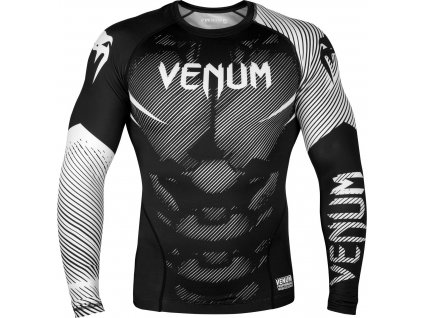 Rashguard Venum NoGi 2.0 Long sleeves - BLACK/WHITE