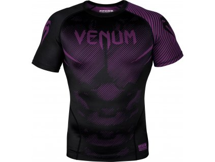 Rashguard Venum NoGi 2.0 Short sleeve - BLACK/PURPLE