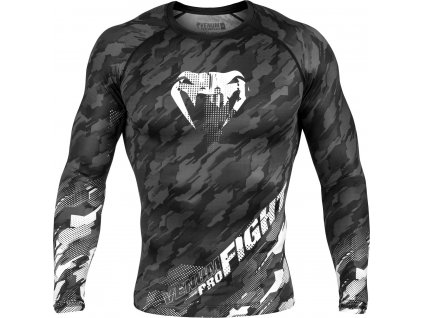 Rashguard Venum Tecmo Long Sleeves Dark Grey