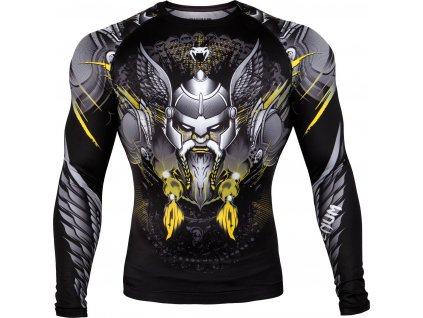 Rashguard Venum Viking 2.0 Long Sleeves BLACK/YELLOW