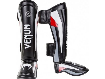 Shin Guards Venum Elite - BLACK/RED/GREY