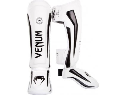 Shin Guards Venum Elite - WHITE/BLACK